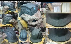 Nexus Hybrid Bone Hunter Helmet WIP by Uratz-Studios