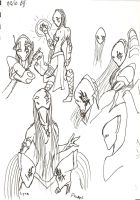 protoss doodles by ObsidianOrder