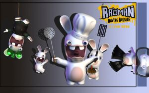 Crazy Rabbits - Wallpaper by iFab