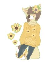 pyotr the sunflower pup by nhyau