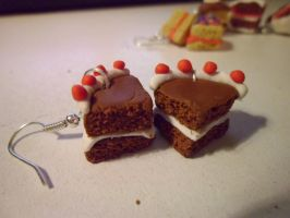 Cake Earrings by delicioustrifle