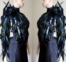 Feather Valkyrie wings sleeve long glove II by Pinkabsinthe