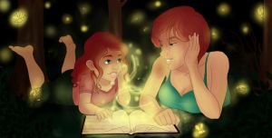 Storybook-Fireflies{Colored} by Lilywonder