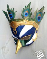 Greek Hera Peacock Leather Mask by senorwong