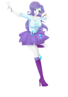 Equestria Girls: Rarity by IrohaHime
