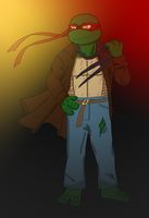 Commission Snofs: Raph Pinup by hkepoetry