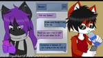 Texting with a friend by BlackWingedHeart87