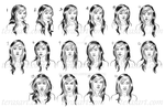 Nicolette Expression Sheet by tbdoll