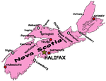 Custom Nova Scotia Map With Cities by TheRealCanadianBoys