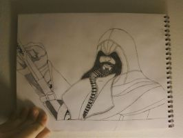 My Incomplete Ezio Drawing Fail by Cody2897