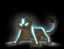 Aang Lion by DivineNymph