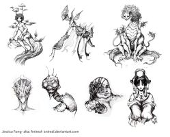 Various Sketches by anireal