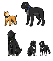 Tintin dogs 1 by aWildBowTie