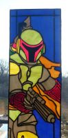 Boba Fett Stained Glass Wall Panel - Daylight by mclanesmemories