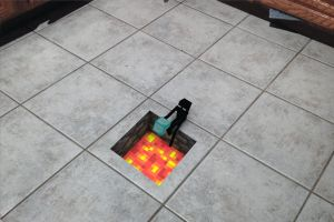 Minecraft Lava (Art Trade for Leopardmouse) by Sola-King