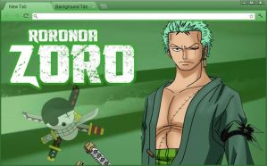 One Piece Chrome Theme: Roronoa Zoro (Revised) by yohohotralala