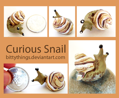 Curious Snail 2 - SOLD by Bittythings