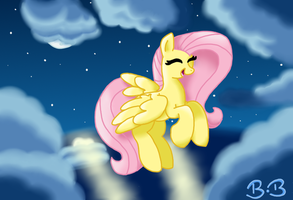 Flying At Night by BreeLikesPINK