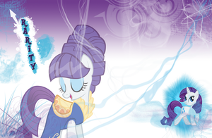 FiM: Rarity Wallpaper by M24Designs