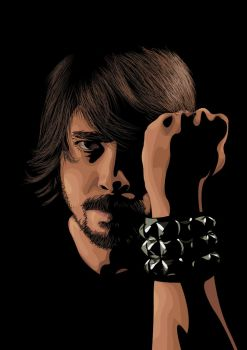 Dave Grohl Foo Fighters by flatfourdesign