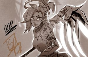 Mercy | Overwatch WIP by Spencer-Bowen