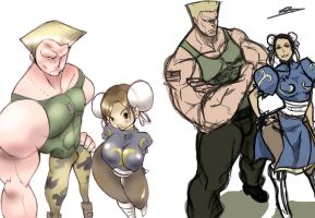 +Throwback Thursday - Guile and Chun+ by liquidxlead