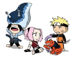 Naruto - Team 7 Sannin 2 color by DocDestructo
