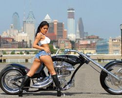Hot Latina And Chopper by klackson