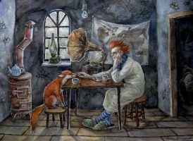 tea with the fox by naitiron