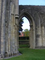 Glastonbury Abbey 28 by LadyxBoleyn