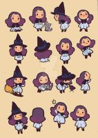 chibi little witch by audreymolinatti