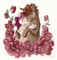 Love on the roses by hecatehell