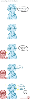 Rin and Haru in Australia Aiport Comic by TaffyDesu
