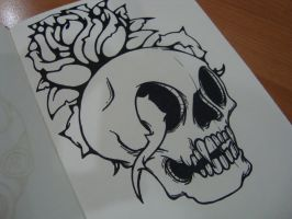 Rosey Skull by GalactikCaptain