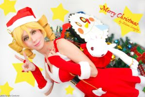 Mami Tomoe Cosplay - Merry Christmas by adami-langley