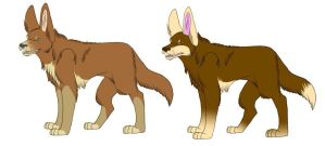 Wolf Adoptables 2014 (50% Off) by MorningAfterWolf