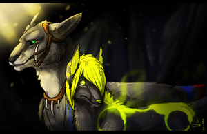 Woofs in a Cavern by Ganja-Shark