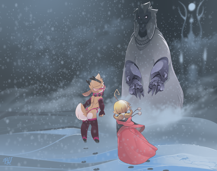 Rudolph meets the abominable snowman by phation