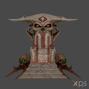 MK9: Shao Khan's Coliseum Throne by KoDraCan
