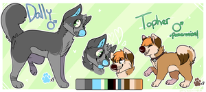 Dally and Topher Ref 2014 by spiderdoq