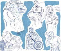Captain A sketches by GiselleRocks