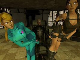 Wesker's Double Lap Dance by VG-MC