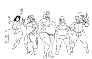 XL: X-Ladies Lines by kawaiidebu