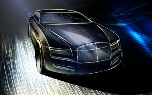 Rolls Royce sketch by Samirs