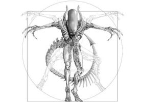 Vitruvian Alien tattoo design by Cele-1-20
