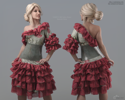 VA2015: MD Salsa Dress - Spanish Rose by VAlzheimer