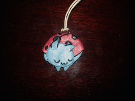 Sleeping Catbug Pendant by Xaphriel