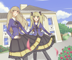 Victoria and Ruby in their second year by Temima