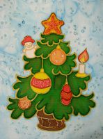 Christmas tree II by Anita-dragon-fly
