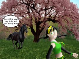Black Horse and the Cherry Tree by TeeheeXD